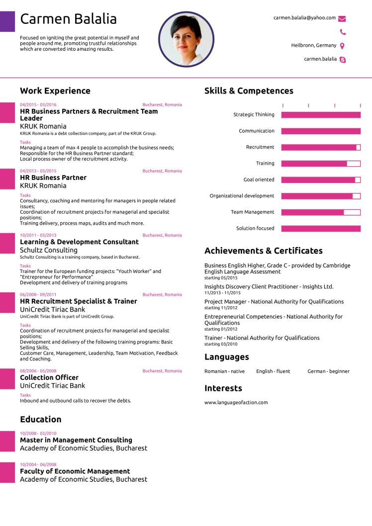 create your one page cv click here 0001